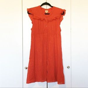 Ella Moss Red Button Down Dress